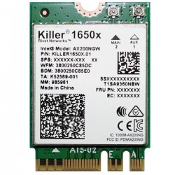 Killer Wireless-AC AX1650 AC M.2 WLAN + Bluetooth