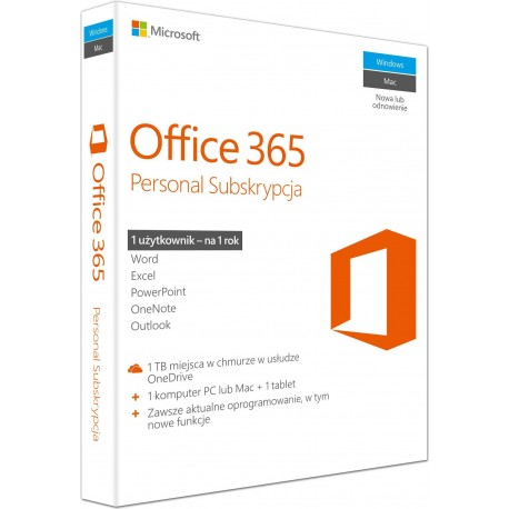 Microsoft Office 365 Personal PL 32/64-bit Subscription 1 year Win10/Mac