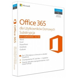 Microsoft Office 365 Home PL 32/64-bit Subscription 1 year Win10/Mac