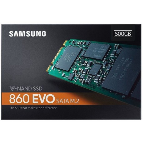 Samsung SSD 500GB 860 EVO M.2 2280 (read/write 550/520MB/s)