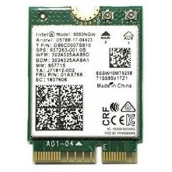 Intel Dual Band Wireless-AC 9560 (802.11 a/c) M.2 WLAN + Bluetooth